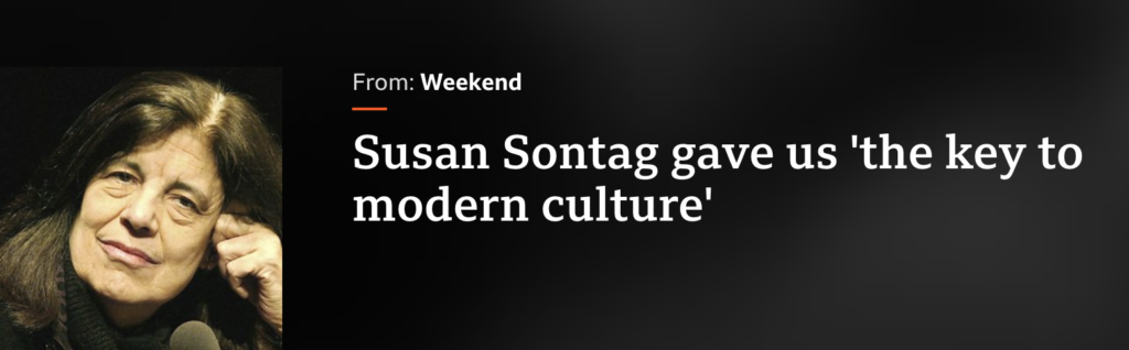 Benjamin Moser interview BBC World Service Susan Sontag Biography